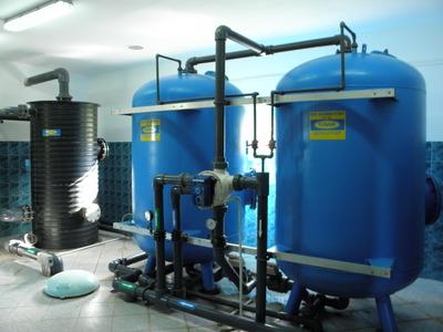 Zbiorniki filtracyjne - SUW Kadłub Turawski